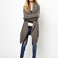 Superdry Cardigan With Large Collar at asos.com