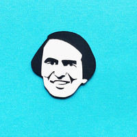 Carl Sagan brooch