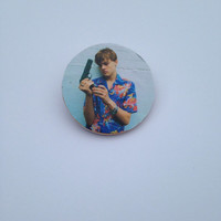 Leonardo Dicaprio Young Pin Button
