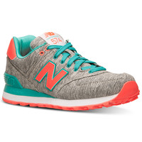 New Balance Women's 574 Glitch Casual Sneakers from Finish Line