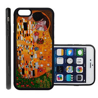 RCGrafix Brand The Kiss By Gustav Klimt Apple Iphone 6 Plus Protective Cell Phone Case Cover - Fits Apple Iphone 6 Plus