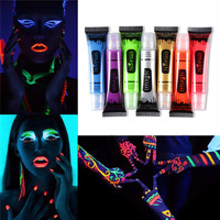 Halloween Party Makeup Imagic Neon Color Body Face Painting Makeup Flash Temporary Tattoo Glow In Dark Paint Fluorescent Oil