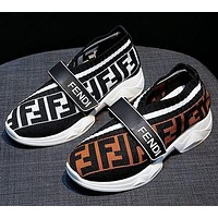 FENDI Retro Women Leisure Knit Running Sport Shoes Sneakers