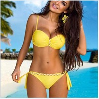 Swimsuit Summer Beach New Arrival Hot Sexy Spaghetti Strap Patchwork Swimwear Bikini [7767322055]