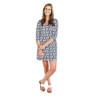 Cape Cod Dress in Palm Navy by Mahi Gold