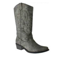 Cowgirl Boots, Gray