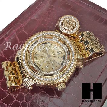 HIP HOP ICED SET LIL UZI RAPPER 14K GOLD WATCH MEDUSA RING SET L029