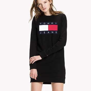 """Tommy "" shirt dress women tops"