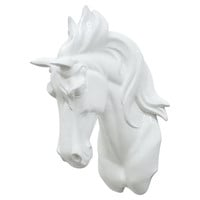 Horse Wall Decor, White, Antlers, Horns, Taxidermy & Faux-Taxidermy