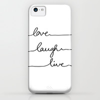 Love Laugh Live iPhone & iPod Case by Mareike Böhmer Graphics