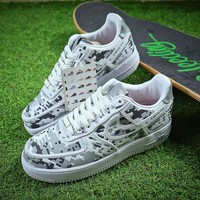 NIKE AIR FORCE 1 LOW PREMIUM Silver 3M Digital Camo Shoes - Best Online Sale