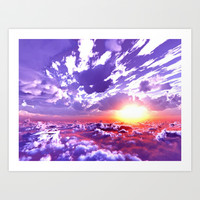 Colorful and energetic sky by healinglove Art Print by Healinglove products