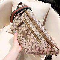 Gucci fashion printed width stripe casual Fanny pack hot seller for both men and women