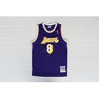LA Lakers #8 Kobe Bryant 1996-1997 Season Purple Swingman Jersey