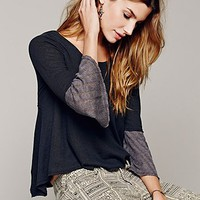 Free People Womens Flare That Sleeve Tee -