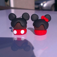 Minnie & Mickey Mouse Cupcake Clay Charms