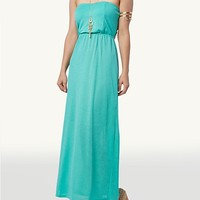 Solid Bow Back Maxi Dress