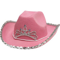 Pink Rhinestone Cowgirl Hat 11in x 5in