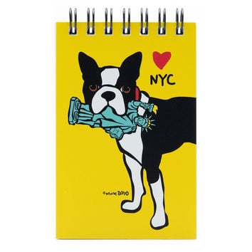 NYC Boston Terrier Spiral Notepad