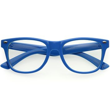 Kids Classic Horn Rimmed Blue Light Glasses D187