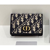 Dior New Fashion Print Clutch Women's Large Capacity Wallet