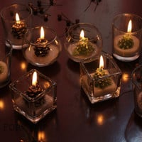 2pcs Free Shipping Christmas Ball Candlestick Aromatherapy Candles Birthday Wedding Romantic Decoration Candle Cup