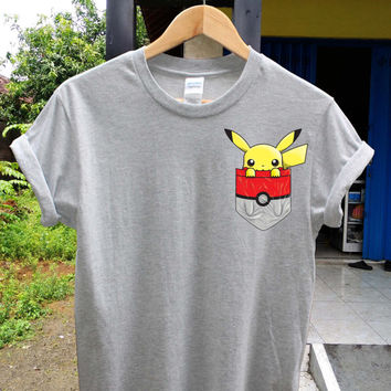 PokePocket Pikachu shirt pokemon t shirt, pikachu t shirt
