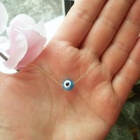 evil eye necklace, ball evil eye, protection ... Please ORDER this item in our NEW shop – JulenJewel .... READ more in the Item Details