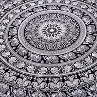 """""""Marubhumi"""" Large Hippie Tapestry, Hippy Mandala Bohemian Tapestries, Indian Dorm Decor, Psychedelic Tapestry Wall Hanging Ethnic Decorative Tapestry, 85 X 90 Inches"""