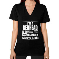 Apparels redheads V-Neck (on woman)