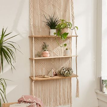 Macramé Hanging Shelf | Urban Outfitters