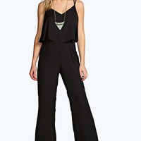 Anya Woven Double Layer Strappy Jumpsuit