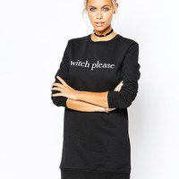 Adolescent Clothing Halloween Sweater Dress With Witch Please Print