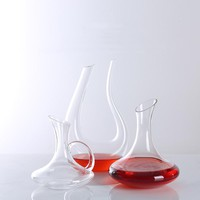 Big Handmade Transparent Glass Crystal Red Wine Decanter Carafe Glasses Bottle Jug Aerator For Family Bar Wine Accessories