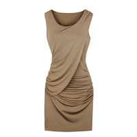 Sleeveless Ruched Side Bodycon Mini Dress