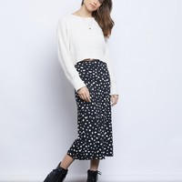 Simply Spotted Midi Skirt