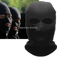 2018 Fashion Full Face Cover Mask Three 3 Hole Balaclava Knit Hat Winter Stretch Snow mask Beanie Hat Cap