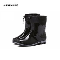 Women Waterproof Mid-Calf  Rainboots