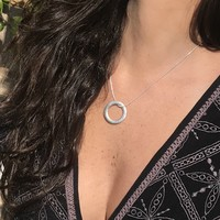 Silver Halo Necklace