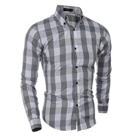 Long Sleeve Men Casual Shirt [10831836355]