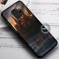 Castle in Fire Harry Potter Hogwarts iPhone X 8 7 Plus 6s Cases Samsung Galaxy S9 S8 Plus S7 edge NOTE 8 Covers #SamsungS9 #iphoneX