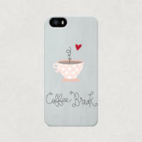 "Love Coffee Spotty Pink Mug ""Coffee Break"" iPhone 4 4s 5 5s 5c Case"