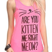 Are You Kitten Me Girls Tank Top - 301185