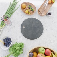 Slate Gray Stucco - Faux Finishes - Rustic Glam - Venetian Plaster Cutting Board by corbinhenry