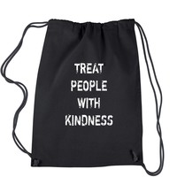 Treat People With Kindness Drawstring Backpack