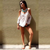 Strappy Lace Crochet Top