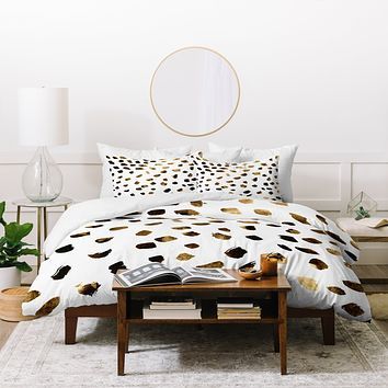 Georgiana Paraschiv Gold V03 Duvet Cover