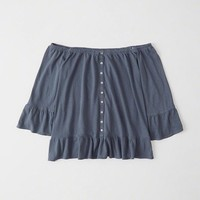 Womens Off-The-Shoulder Top   Womens New Arrivals   Abercrombie.com
