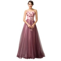 Women's Sexy Ball Gown Peacock Prom dresses 2015 Elegant Evening Dress Sweetheart Tulle Homecoming Party Dresses Long 6163 - BRIDESMAID DRESSES BRIDAL GOWNS PROM