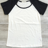 Play It Baseball Top - Black